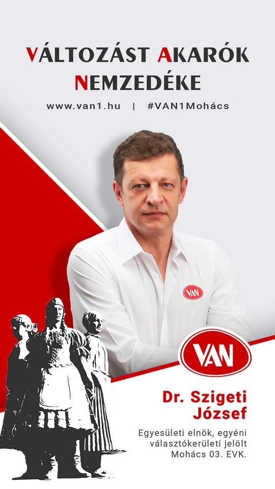 Dr. Szigeti József - Mohács | VAN Változást Akarók Nemzedéke
